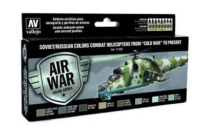 VALLEJO NEU ! Model Air: Model Air Set Soviet / Russian colors Combat Helicopter