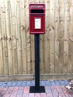 Postbox Letter Post Box and Stand - Cast Iron Post Office Red - Medium