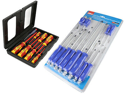 2 Hilka Screwdriver Sets - 12pce Engineers and 7pce Insulated Electrician