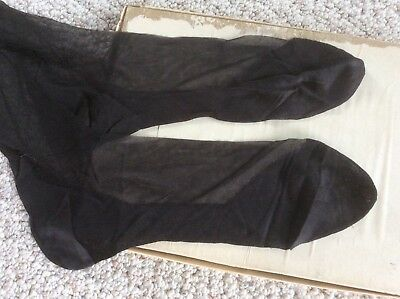 Vintage Carson Pirie Scott Black Stockings Seamed