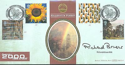 Great Britain 2000 Tree and Leaf FDC signed by Richard Briers OBE