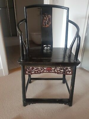 Antique chinese chair, circa 1800, Authentic and rare