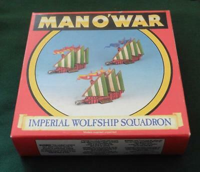 Rare OOP Citadel GW Man O' War BOXED metal Empire wolfships Squadron 3 models.