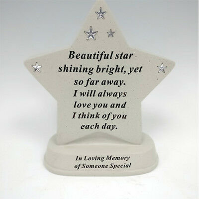 in loving memory of a Someone special Memorial Star shape Grave Ornament