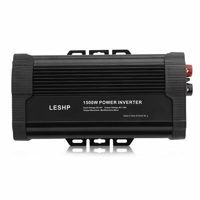 BEST 1500W Power Inverter DC 12V to 110V AC Car Adapter with Dual USB Adapter