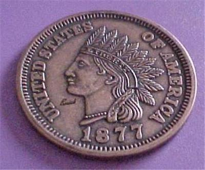 Indian Head Enlarged Penny (1877)Advertising Buick  -181