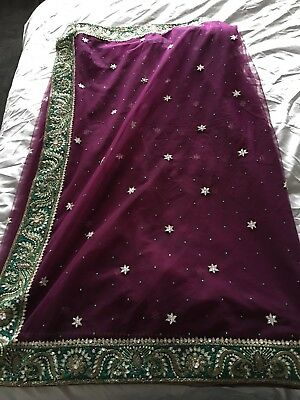 Stunning Net Saree with plus size blouse & petticoat Worn Once