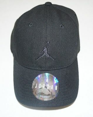 da9d9368517 NIKE Snap Back Baseball Hat Cap Jordan Boys Youth 8 20 Black White Gray  Jumpman