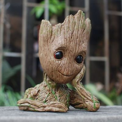 Guardians of The Galaxy Baby Groot Flowerpot Pen Pot Tree Man Figure Xmas Gift