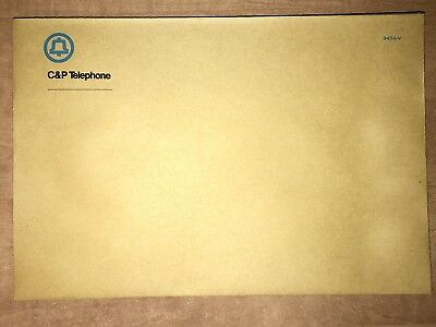 Lot of ten (10) Vintage Chesapeake & Potomac envelopes. NOS AT&T Bell System