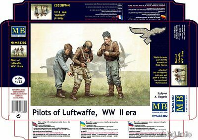 Masterbox ! Pilots Of German Luftwaffe Ww Ii  Era In 1/32 !