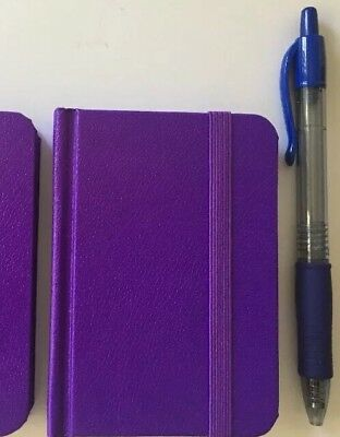 New Small Purple Hardcover Pocket Notebook Journal 96 Pages 4.5 x 3 Ruled