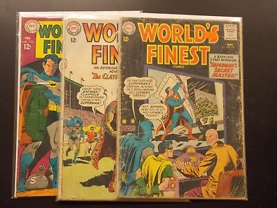 DC World's Finest Silver Age Lot # 137 140 173 1st Silver Age Two Face
