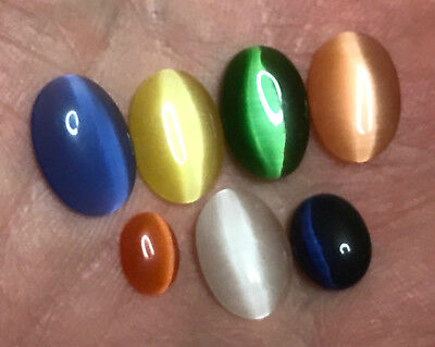 7 x Katzenauge/Oval - Multi Color  17,70 Ct  Sri Lanka