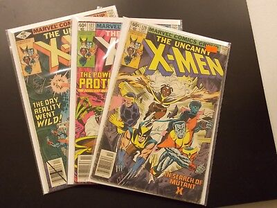 Bronze Age X-Men Comic Lot #126-128