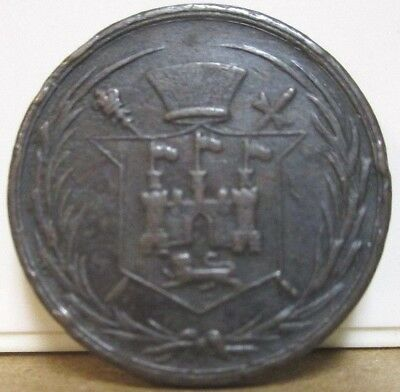 1852, UF-3950, Unofficial Farthing, Norfolk, Norwich, Chamberlin, Sons - Drapers