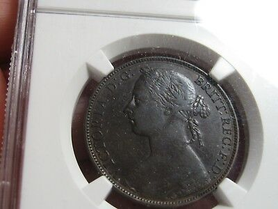 Lot of 2 Great Britain Coins 1882 H Penny and 1860 Farthing - Nice Coins!