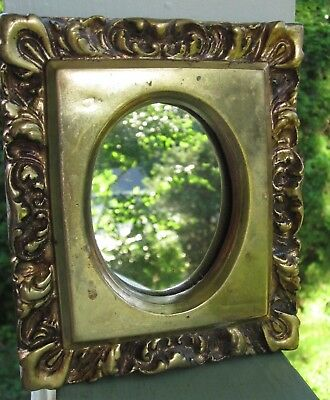 George Nathan Assoc Art Nouveau Luscious Gold Mounted Small Wall Mirror Vintage