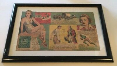 Framed 1940 King Features Syndicate, Inc. newspaper comic strip clipping