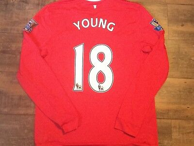 2011 2012 Manchester United L/s Young Home Football Shirt Adults Large Jersey