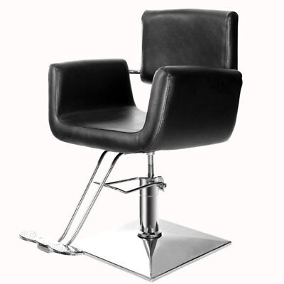 Beauty Salon Square Chair Barber Hairdressing Hair Cut PU Leather Modern Seat UK
