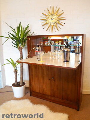 £50 OFF 50s 60s Mid Century Retro Vintage Cocktail Drinks Cabinet Bar Atomic Era