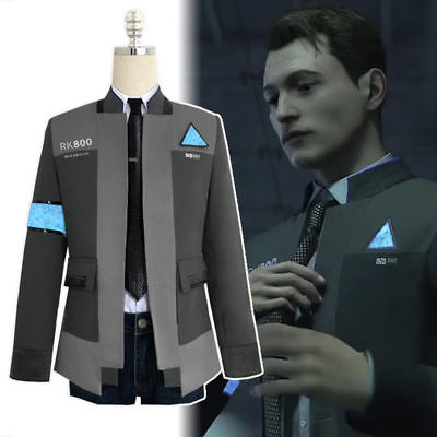 Detroit Become Human Rk800 Connor Outfit Cosplay Mens Jacket Coat Costume Lot Spectrum Ag Com