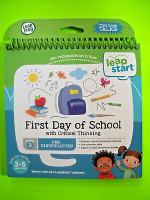 LEAPSTART BOOK FIRST Day of School With Critical Thinking Level 2