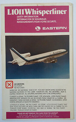 Safety Cards Eastern L1011