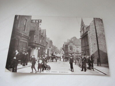 HIGH STREET, WOMBWELL VINTAGE POSTCARD posted 1911 - mentions strike