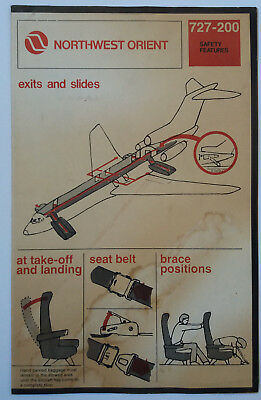 Safety Cards Nordwest Orient B727-200