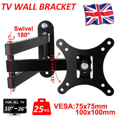 "Universal Corner TV Wall Bracket 14"" 16"" 18"" 20"" 22"" 24"" 26 ""30""+ Tilt Swivel GT"