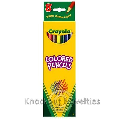 8 ct. Long Colored Pencils Crayola Draw Art Craft Crafts Fun Learn Play