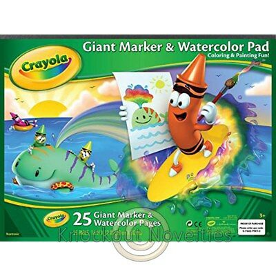 Giant Marker / Watercolor Pad Crayola Draw Art Craft Crafts Fun Learn Play