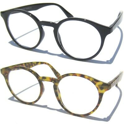 Clear Lens Glasses Retro Fashion Round Horn Rimmed Vintage Style