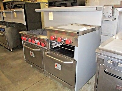 """CPG Gas 6 Burner 60"""" Range with 24"""" Griddle / Broiler & Double Oven #12959"""