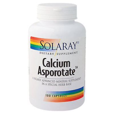 Solaray Calcium Asporotate 800 MG - 100 Capsules