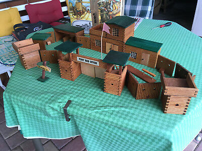 Fort Red River Holzmodell Cowboys Indianer Kavallerie Wild West