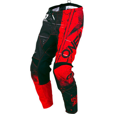 NEW Oneal 2019 MX Gear Element Shred Red Black O'Neal Dirt Bike Motocross Pants