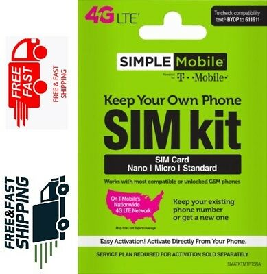 SIMPLE Mobile - Bring Your Own Phone SIM Card Kit