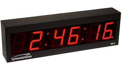 NEW Symmetricom ND-4 NTP Internet IP Synchonized Red LED Wall Clock Ethernet ND4