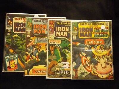 Silver Age Tales Of Suspense Iron Man Captain America Comic Lot #74 78 81 89
