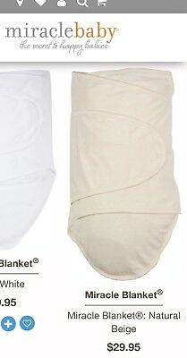 TWO Miracle Blanket swaddle wrap/baby wraps natural.  Washed but Never worn!