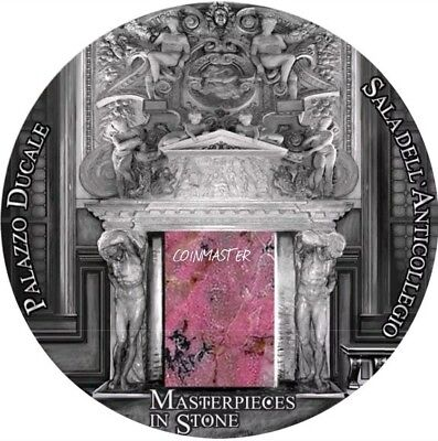 2016 3 Oz Silver $10 FIJI PALAZZO DUCALE Doge Palace Masterpieces In Stone Coin.