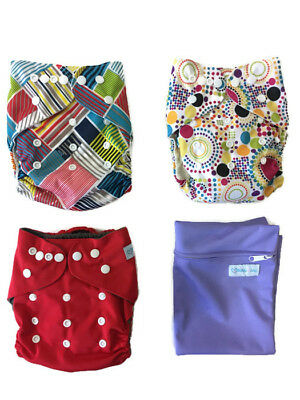 Echo Friendly Diapers- Bamboo Terry Absorbent Reusable Cloth Diaper W/ACCS