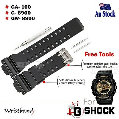16mm Replacement Wristband Watch Band For Casio G SHOCK GA-100 G-8900 GW-8900