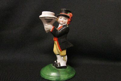 Antique German made Half Doll Related Boy Candleholder