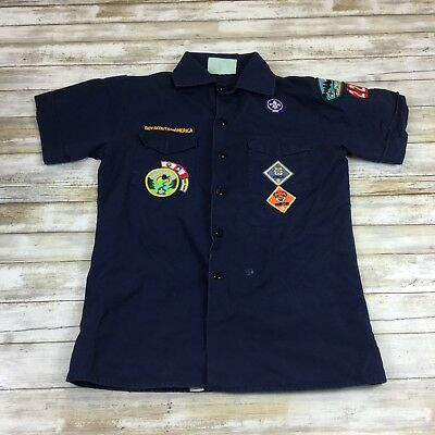 Boy Scouts Of America - Youth Size Large - Blue Cub Scouts Uniform Shirt