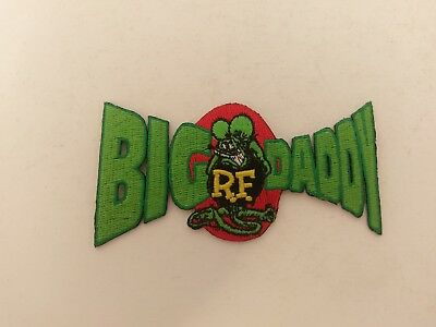 RAT FINK R.F. Embroidered Iron-On Patch