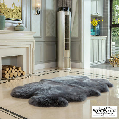 Windward 100% Sheepskin Quad Rug in 2 Colours**FAST DELIVERY**